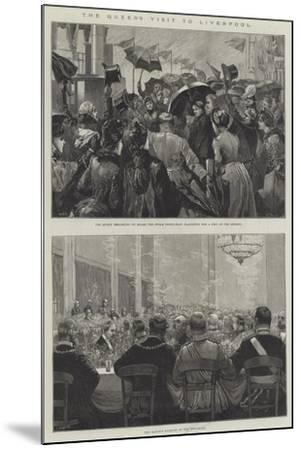 The Queen's Visit to Liverpool-William Heysham Overend-Mounted Giclee Print
