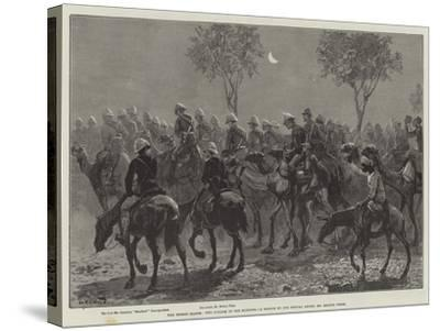The Desert March, Two O'Clock in the Morning-William Heysham Overend-Stretched Canvas Print