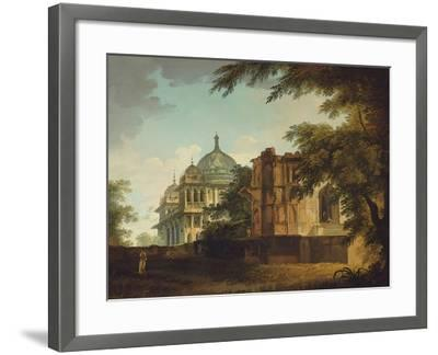 View of a Mosque at Mounheer (Maner)-William Hodges-Framed Giclee Print