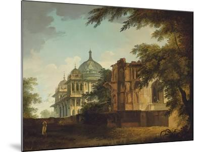 View of a Mosque at Mounheer (Maner)-William Hodges-Mounted Giclee Print