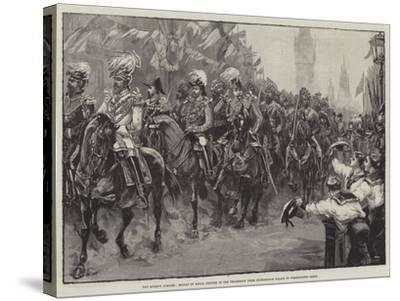 The Queen's Jubilee-William Heysham Overend-Stretched Canvas Print