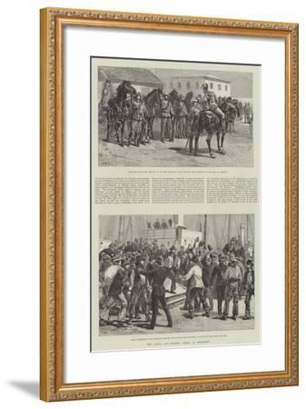 The Labour and Shipping Strike at Melbourne-William Heysham Overend-Framed Giclee Print