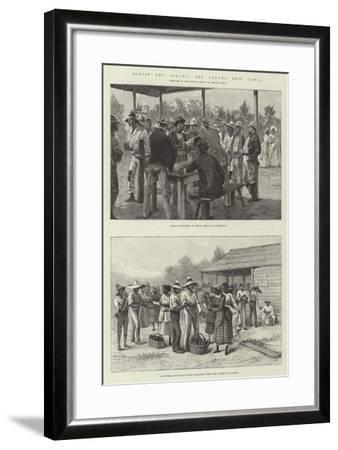 Across Two Oceans, the Panama Ship Canal-William Heysham Overend-Framed Giclee Print