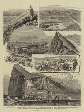 Sketches at Gibraltar-William Henry James Boot-Framed Giclee Print