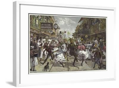 Carnival in Port of Spain, Trinidad-William Heysham Overend-Framed Giclee Print