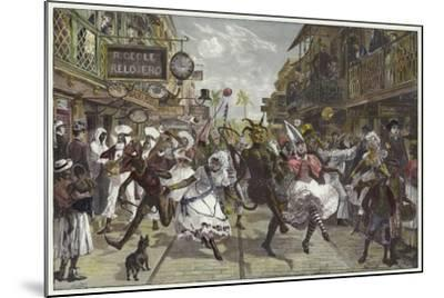 Carnival in Port of Spain, Trinidad-William Heysham Overend-Mounted Giclee Print
