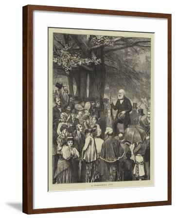 A Foreigners' Fete-William III Bromley-Framed Giclee Print
