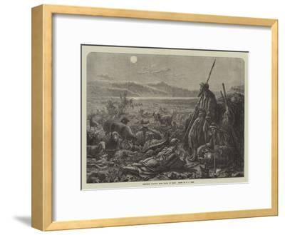 Shepherds Watching their Flocks by Night-William J^ Webbe-Framed Giclee Print