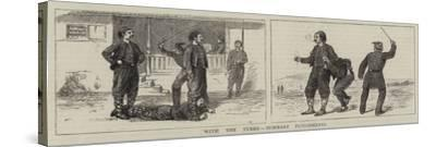 With the Turks, Summary Punishments-William Ralston-Stretched Canvas Print