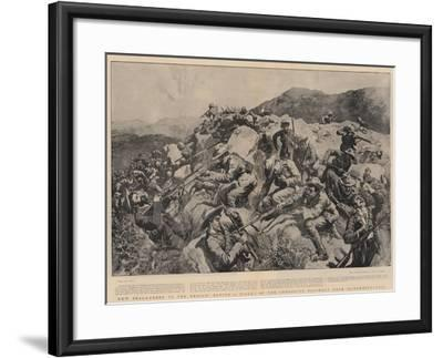 New Zealanders to the Rescue, Saving a Picket of the Yorkshire Regiment Near Slingersfontein-William Small-Framed Giclee Print