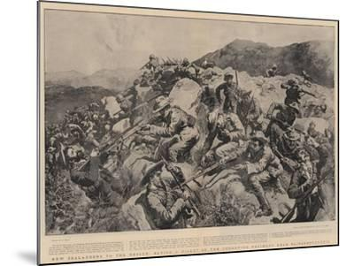 New Zealanders to the Rescue, Saving a Picket of the Yorkshire Regiment Near Slingersfontein-William Small-Mounted Giclee Print