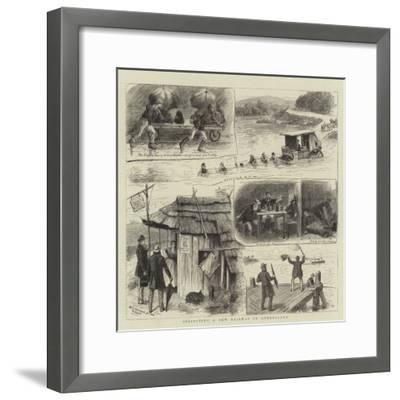 Inspecting a New Railway in Queensland-William Ralston-Framed Giclee Print