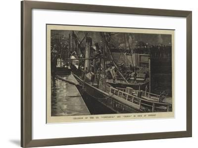 Collision of the Ss Constancia and Primus in Dock at Newport-William Lionel Wyllie-Framed Giclee Print