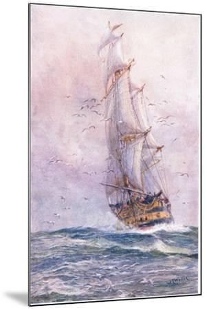 The 'Foudroyant', One of Nelson's Old Ships, 1915-William Lionel Wyllie-Mounted Giclee Print