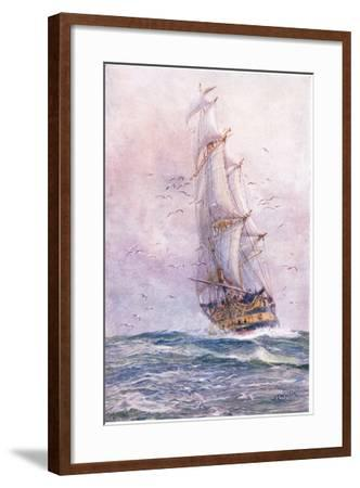 The 'Foudroyant', One of Nelson's Old Ships, 1915-William Lionel Wyllie-Framed Giclee Print