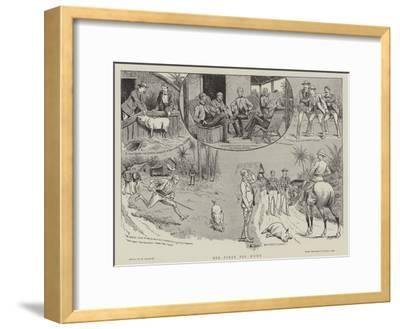His First Pig Hunt-William Ralston-Framed Giclee Print