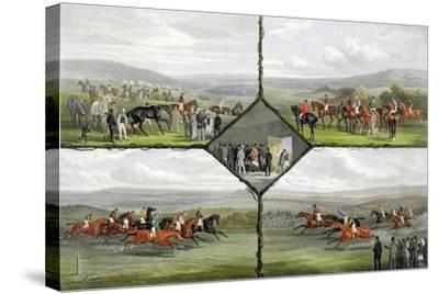 Racing Incidents-William Joseph Shayer-Stretched Canvas Print