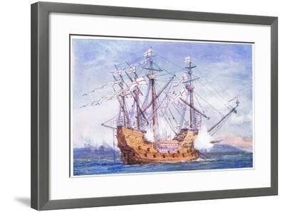 The 'Grace De Dieu' 1515, 1915-William Lionel Wyllie-Framed Giclee Print
