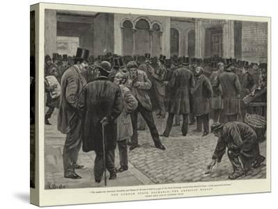 The London Stock Exchange, the American Market-William Lockhart Bogle-Stretched Canvas Print