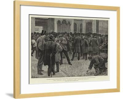 The London Stock Exchange, the American Market-William Lockhart Bogle-Framed Giclee Print