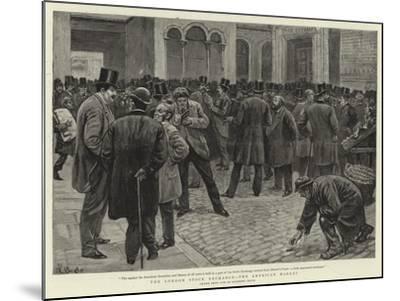 The London Stock Exchange, the American Market-William Lockhart Bogle-Mounted Giclee Print