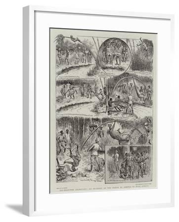 Ill-Requited Ingenuity, an Incident on the March to Bekwai in West Africa-William Ralston-Framed Giclee Print