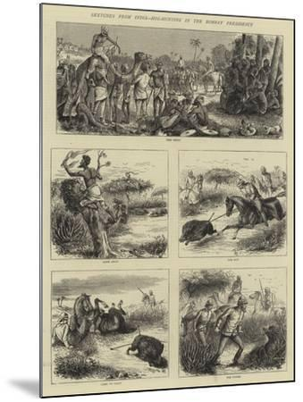 Sketches from India, Hog-Hunting in the Bombay Presidency-William Ralston-Mounted Giclee Print