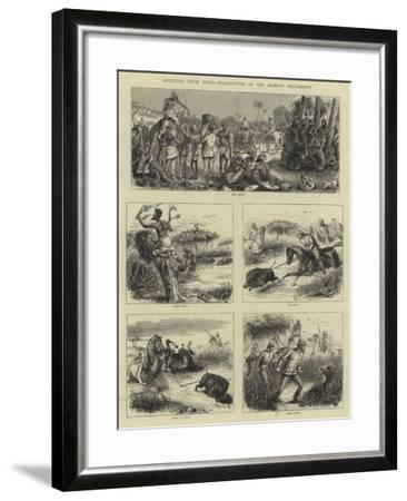 Sketches from India, Hog-Hunting in the Bombay Presidency-William Ralston-Framed Giclee Print