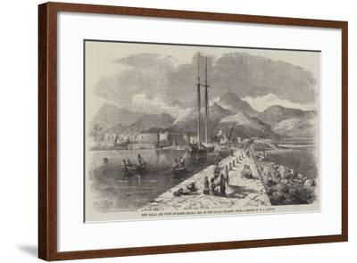 New Canal and Town of Santa Maura, One of the Ionian Islands-William Leighton Leitch-Framed Giclee Print