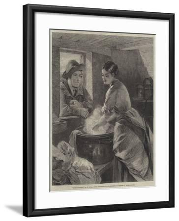 Rustic Courtship-William Lucas-Framed Giclee Print
