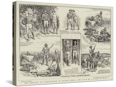 The Delight of Campaigning in South Africa, the Tale of a Piece of Soap-William Ralston-Stretched Canvas Print