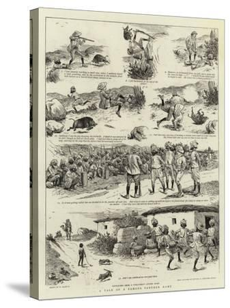 A Tale of a Famous Panther Hunt-William Ralston-Stretched Canvas Print