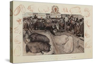 The Centenary of the Smithfield Club Cattle Show, 1798-1897-William Small-Stretched Canvas Print