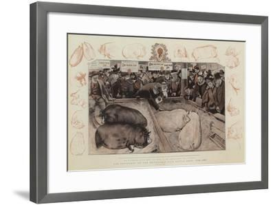 The Centenary of the Smithfield Club Cattle Show, 1798-1897-William Small-Framed Giclee Print