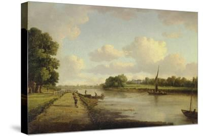 View on the River Thames at Richmond (?), C.1776-William Marlow-Stretched Canvas Print