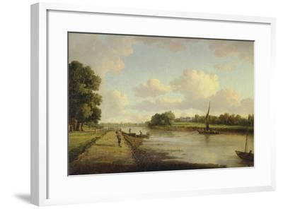 View on the River Thames at Richmond (?), C.1776-William Marlow-Framed Giclee Print