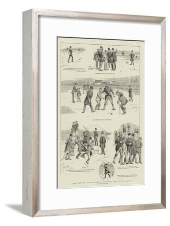 How the Reverend Stymie Niblock Introduced Golf to His Parish-William Ralston-Framed Giclee Print