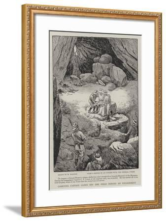 Carrying Captain Lloyd Off the Field During an Engagement-William Ralston-Framed Giclee Print