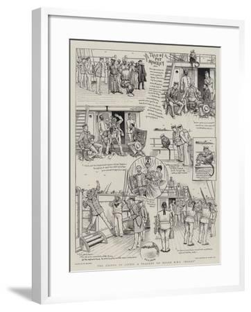 The Crimes of Jocko, a Tragedy on Board HMS Holly-William Ralston-Framed Giclee Print