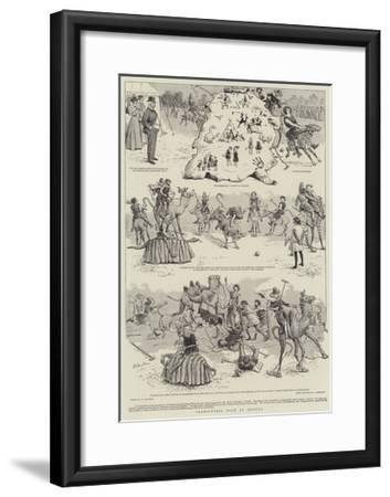 Prehistoric Polo at Quetta-William Ralston-Framed Giclee Print