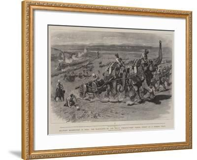 Military Manoeuvres in India-William Small-Framed Giclee Print