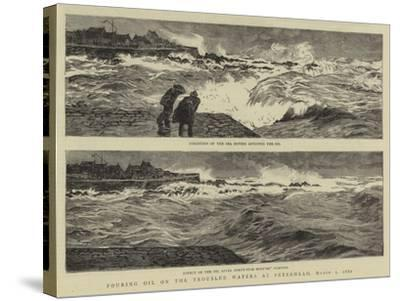 Pouring Oil on the Troubled Waters at Peterhead, 1 March 1882-William Lionel Wyllie-Stretched Canvas Print