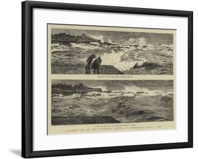 Pouring Oil on the Troubled Waters at Peterhead, 1 March 1882-William Lionel Wyllie-Framed Giclee Print