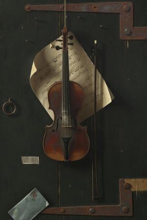 The Old Violin, 1886-William Michael Harnett-Framed Giclee Print