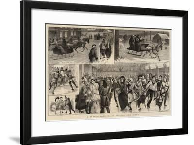 A Skating Carnival at Halifax, Nova Scotia-William Ralston-Framed Giclee Print