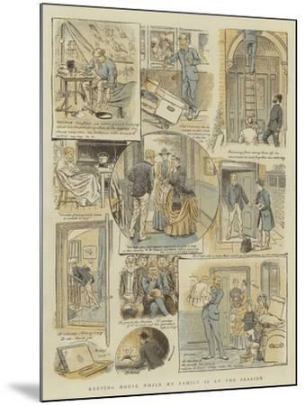 Keeping House While My Family Is at the Seaside-William Ralston-Mounted Giclee Print