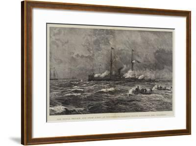 The Naval Review and Sham Fight at Portsmouth, Torpedo Boats Attacking the Colossus-William Lionel Wyllie-Framed Giclee Print