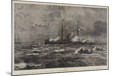 The Naval Review and Sham Fight at Portsmouth, Torpedo Boats Attacking the Colossus-William Lionel Wyllie-Mounted Giclee Print