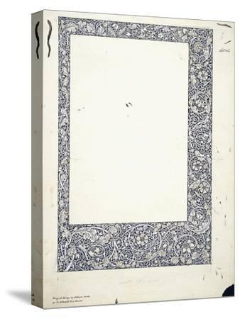 Original Drawing for a Full-Page Border-William Morris-Stretched Canvas Print