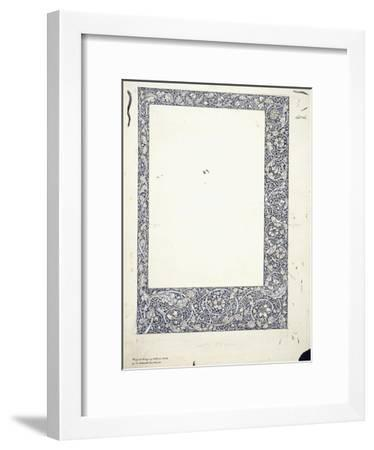 Original Drawing for a Full-Page Border-William Morris-Framed Giclee Print